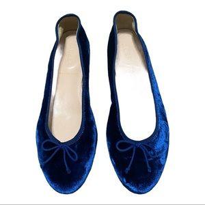 J Crew Blue Velvet Ballerina Flats (6)